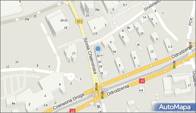 Toruń, Szosa Chełmińska, 22, mapa Torunia