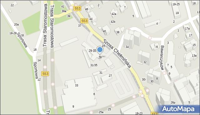 Toruń, Szosa Chełmińska, 29, mapa Torunia