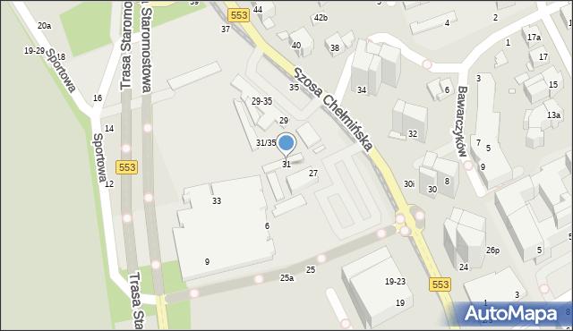 Toruń, Szosa Chełmińska, 31, mapa Torunia