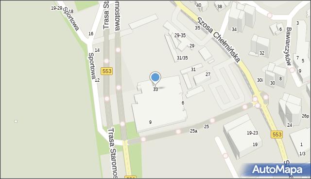 Toruń, Szosa Chełmińska, 33, mapa Torunia