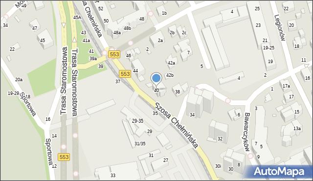 Toruń, Szosa Chełmińska, 40, mapa Torunia