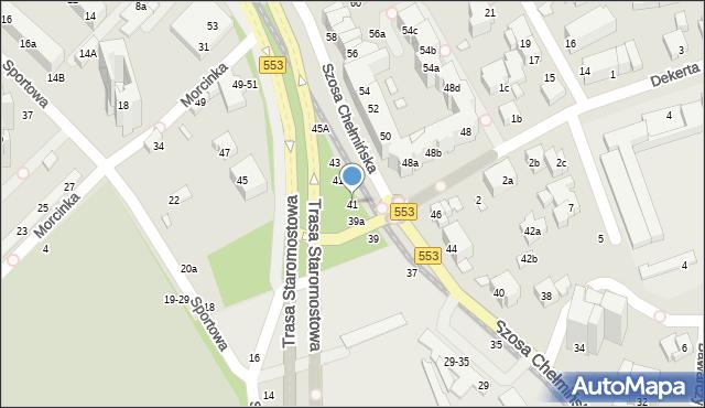 Toruń, Szosa Chełmińska, 41, mapa Torunia