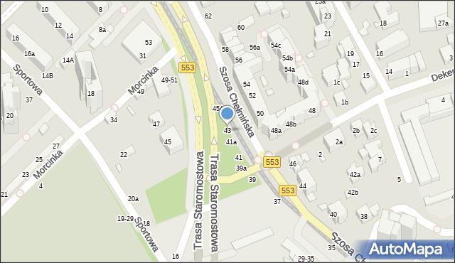 Toruń, Szosa Chełmińska, 43, mapa Torunia