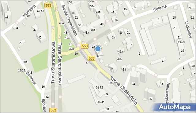 Toruń, Szosa Chełmińska, 44, mapa Torunia