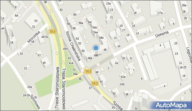 Toruń, Szosa Chełmińska, 48b, mapa Torunia