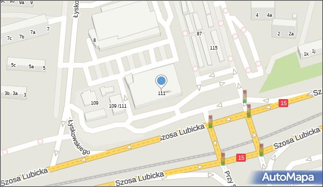 Toruń, Szosa Lubicka, 111, mapa Torunia