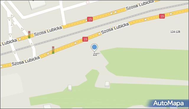 Toruń, Szosa Lubicka, 122, mapa Torunia