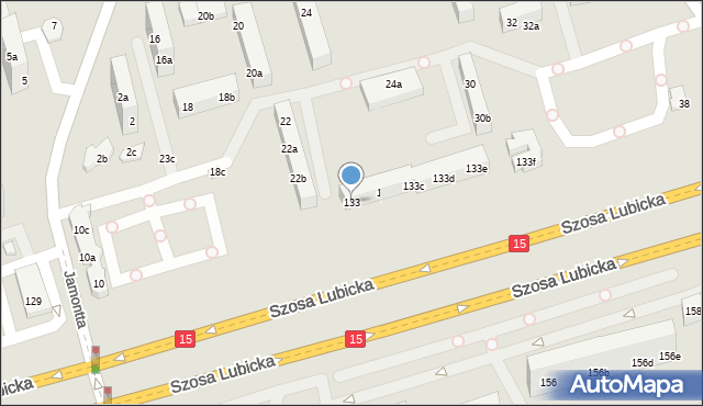 Toruń, Szosa Lubicka, 133, mapa Torunia