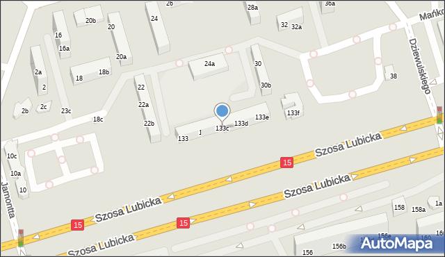 Toruń, Szosa Lubicka, 133c, mapa Torunia