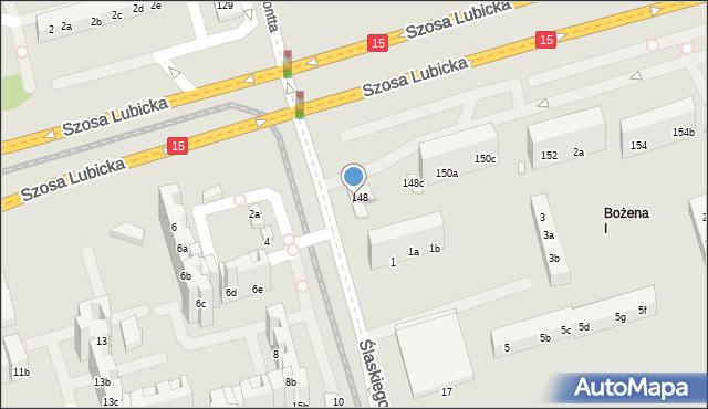 Toruń, Szosa Lubicka, 148b, mapa Torunia