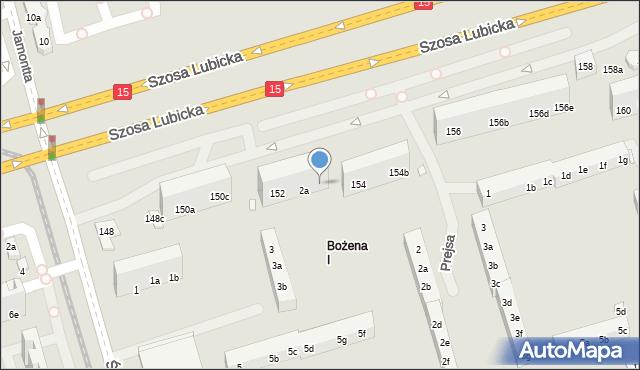 Toruń, Szosa Lubicka, 152b, mapa Torunia