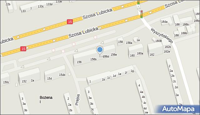 Toruń, Szosa Lubicka, 156c, mapa Torunia