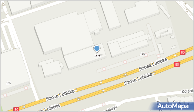 Toruń, Szosa Lubicka, 157a, mapa Torunia