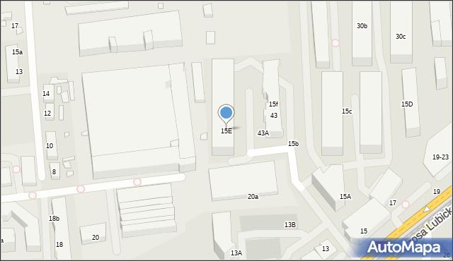 Toruń, Szosa Lubicka, 15E, mapa Torunia