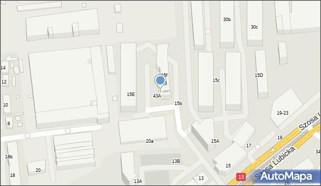 Toruń, Szosa Lubicka, 15f, mapa Torunia