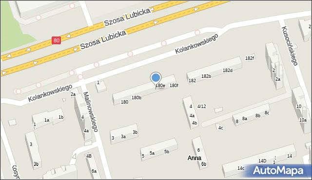 Toruń, Szosa Lubicka, 180d, mapa Torunia