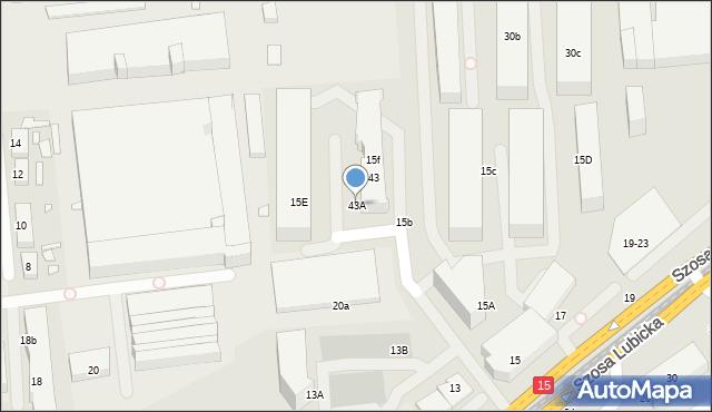 Toruń, Szosa Lubicka, 43A, mapa Torunia
