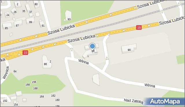 Toruń, Szosa Lubicka, 62, mapa Torunia