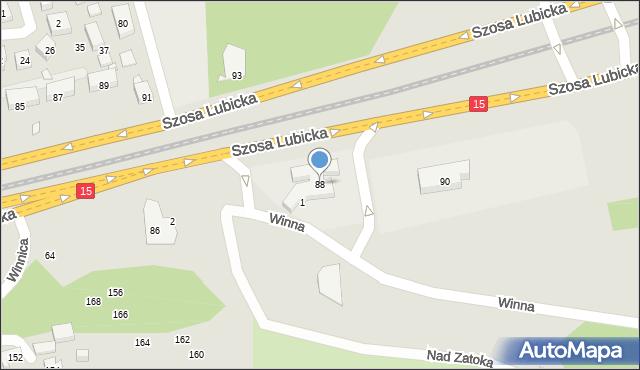 Toruń, Szosa Lubicka, 88, mapa Torunia