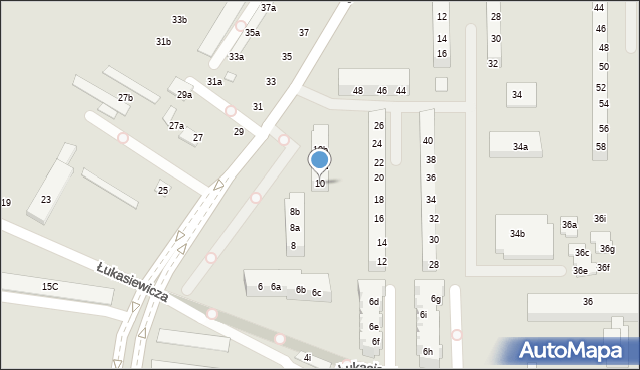 Toruń, Szosa Okrężna, 10, mapa Torunia