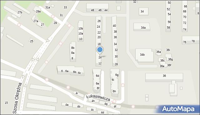 Toruń, Szosa Okrężna, 14, mapa Torunia