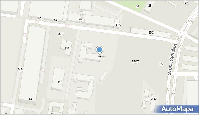 Toruń, Szosa Okrężna, 17, mapa Torunia