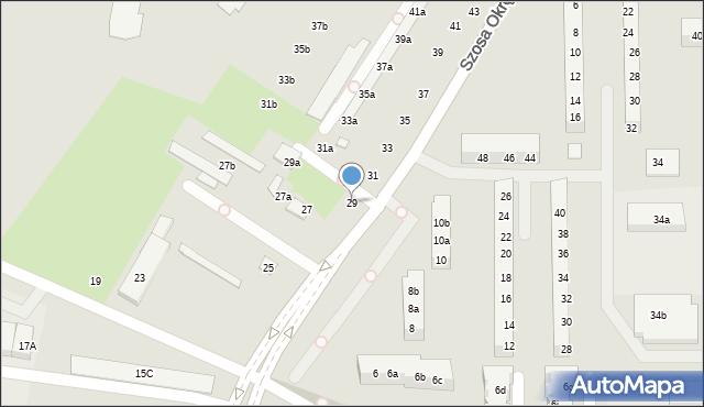 Toruń, Szosa Okrężna, 29, mapa Torunia