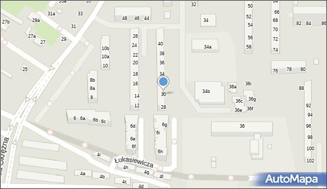Toruń, Szosa Okrężna, 30, mapa Torunia