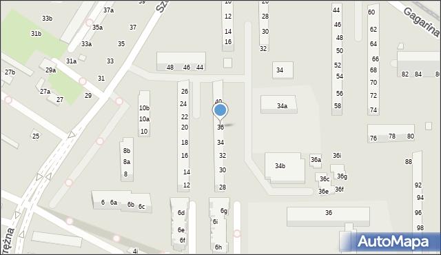 Toruń, Szosa Okrężna, 36, mapa Torunia