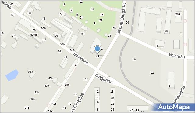 Toruń, Szosa Okrężna, 49, mapa Torunia