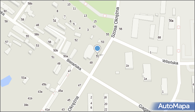 Toruń, Szosa Okrężna, 51, mapa Torunia