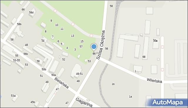 Toruń, Szosa Okrężna, 55, mapa Torunia