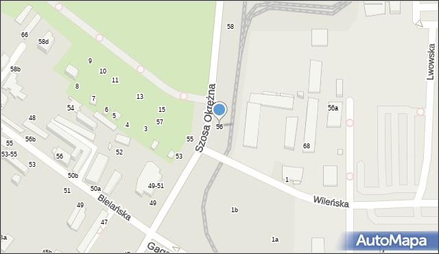 Toruń, Szosa Okrężna, 56, mapa Torunia