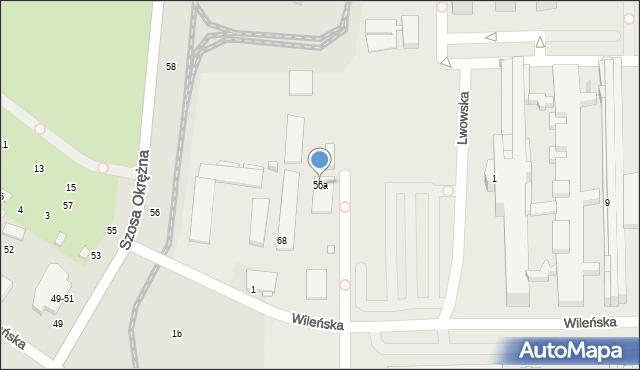 Toruń, Szosa Okrężna, 56a, mapa Torunia