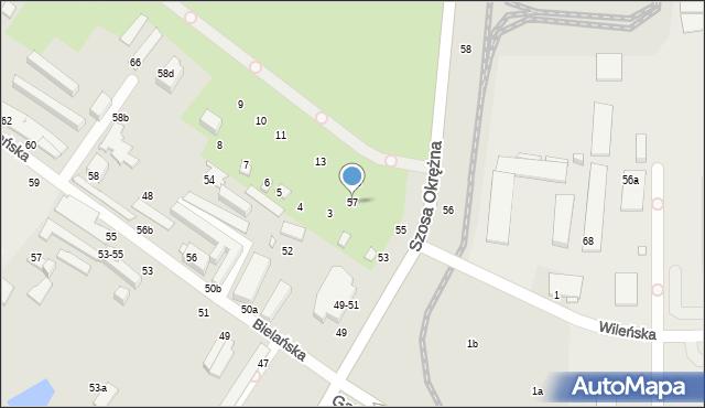 Toruń, Szosa Okrężna, 57, mapa Torunia
