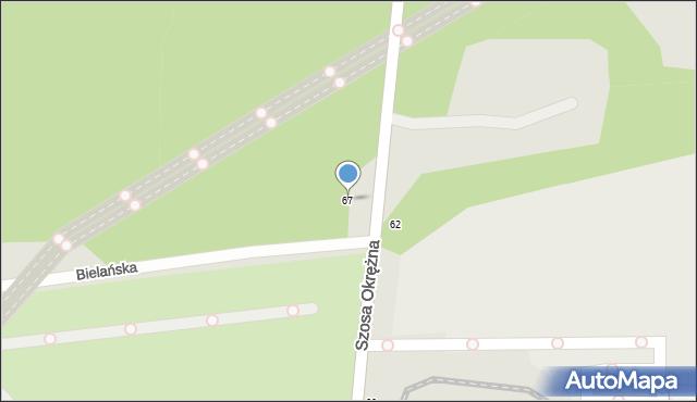 Toruń, Szosa Okrężna, 67, mapa Torunia