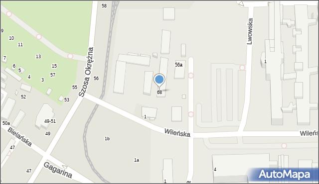 Toruń, Szosa Okrężna, 68, mapa Torunia