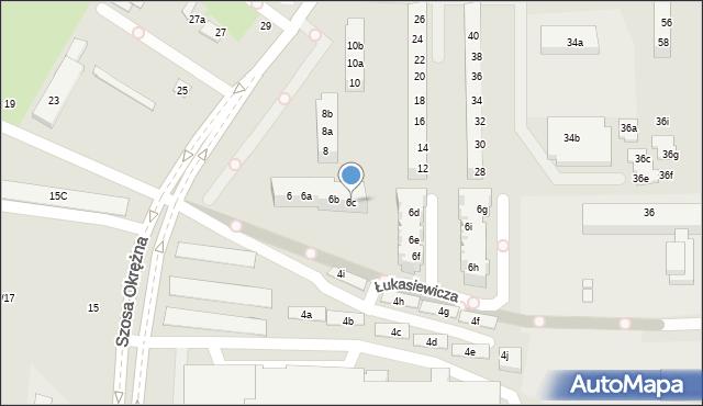 Toruń, Szosa Okrężna, 6c, mapa Torunia