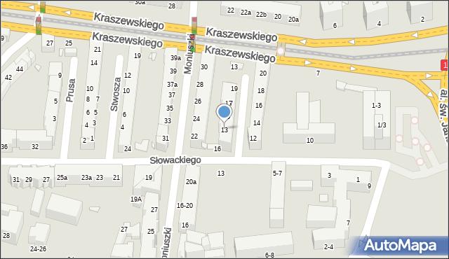 Toruń, Szymanowskiego Karola, 13, mapa Torunia