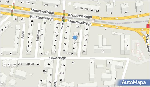 Toruń, Szymanowskiego Karola, 15, mapa Torunia