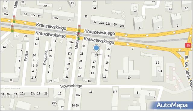 Toruń, Szymanowskiego Karola, 19, mapa Torunia
