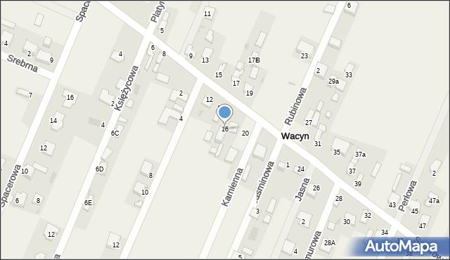 Wacyn, Szafirowa, 16, mapa Wacyn
