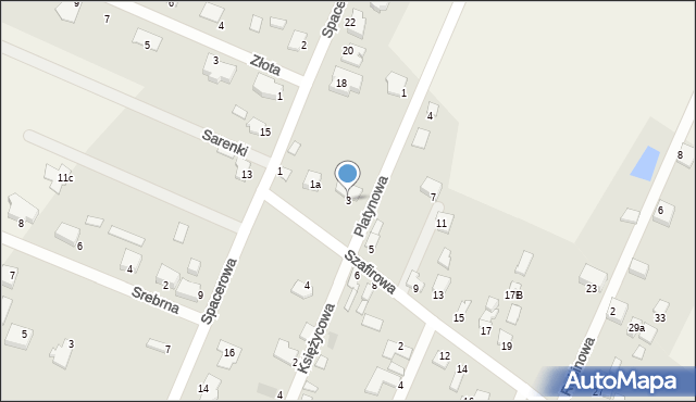 Wacyn, Szafirowa, 3, mapa Wacyn