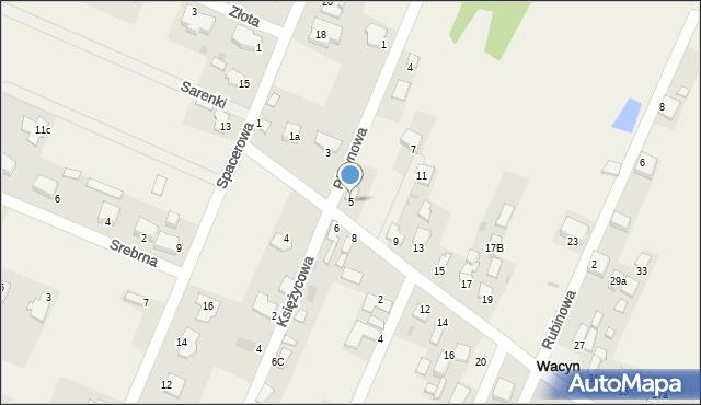 Wacyn, Szafirowa, 5, mapa Wacyn