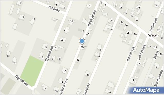 Wacyn, Szafirowa, 6D, mapa Wacyn