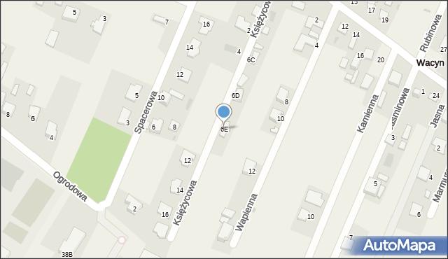 Wacyn, Szafirowa, 6E, mapa Wacyn