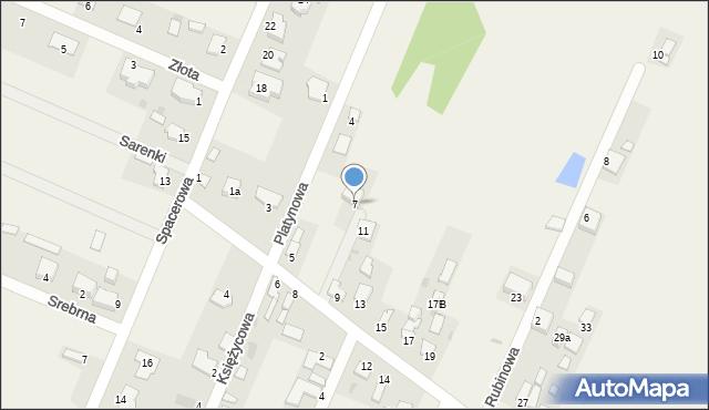 Wacyn, Szafirowa, 7, mapa Wacyn