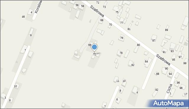 Wacyn, Szafirowa, 72, mapa Wacyn