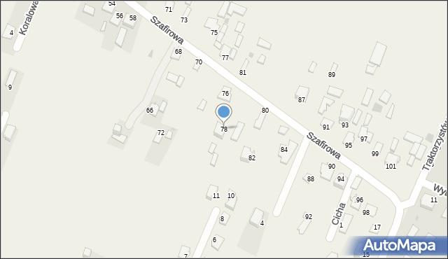 Wacyn, Szafirowa, 78, mapa Wacyn