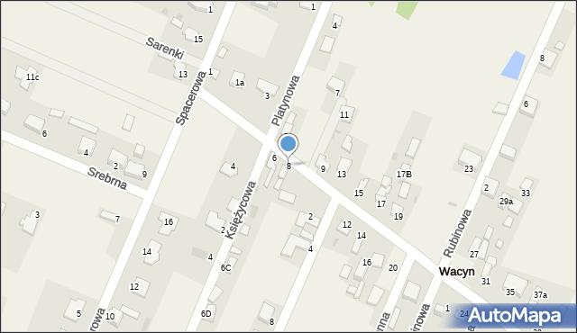 Wacyn, Szafirowa, 8, mapa Wacyn